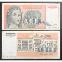 Tiền châu Âu 50.000.000 dinara của Nam Tư, quốc gia không còn tồn tại