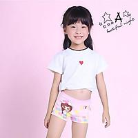 Quần chip đùi cotton cao cấp cho bé gái 2-12 tuổi hình hươu cao cổ đủ màu sắc tươi vui – C017