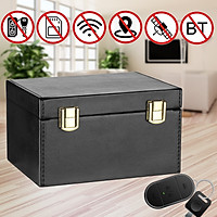 Faraday Box Car Key Signal Blocker Keyless Entry Fob Jammer RFID Case PU Leather