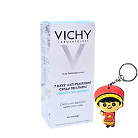 Kem khử mùi khô thoáng Vichy Anti-Perspirant Cream 7 Days 30ml (tặng móc khoá)