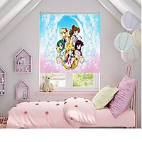 màn tranh 3D cho phòng bé gái KT 140*120,CHỐNG NẮNG,BẢO VỆ SỨC KHOẺ