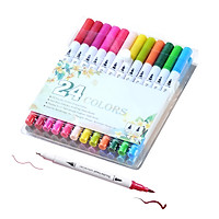 80 Colors Dual Tips Brush Pens Art Markers Brush and Fine Point Colored Pen for Children Adults Artists Drawing Coloring