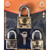 [Bộ 3 ổ khóa] Ổ khóa cửa treo Việt Tiệp hợp kim trùng chìa 01003 / 01063 làm từ chất liệu hợp kim thép cao cấp có độ bền cao, chịu nhiệt tốt, đảm bảo an toàn