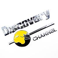 Discovery Channel - Set 3 miếng Sticker metal hình dán kim loại 3D