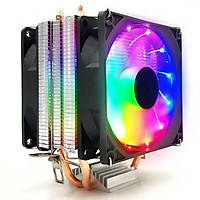 Quạt tản nhiệt CPU CoolerMan RGB 2 ống đồng.