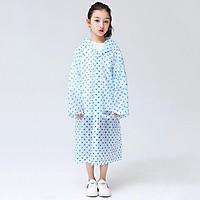 Áo mưa trẻ em chất poly mềm nhẹ cho bé 4-10 tuổi hoạt tiết chấm bi nhiều màu sắc đơn giản gọn nhẹ – AM012