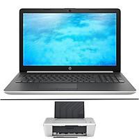 """Laptop HP Notebook 15-da1031TX 5NK55PA Core i5-8265U/Win10 (15.6"""" HD) + Tặng kèm máy in HP Deskjet 1010 - Hàng Chính Hãng"""