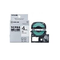 Băng mực in nhãn Tepra cỡ 4mm dùng cho máy TEPRA PRO SR-R170V / SR530 / SR970 - HÀNG CHÍNH HÃNG