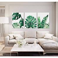 Bộ tranh lá xanh - Tranh canvas