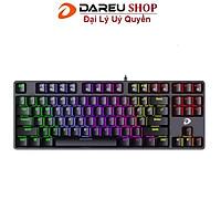 Bàn phím cơ Gaming Dareu EK87 Multiled Đen Black - Hàng Chính Hãng