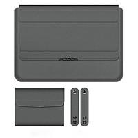 bao da túi chống sốc ipad laptop macbook kiêm giá đỡ tản nhiệt kèm ví đựng sạc chuột