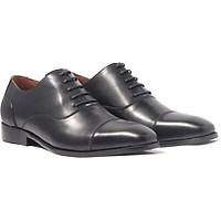 Giày nam buộc dây, phong cách giày tây công sở Captoe Oxford H1CO1M0 da bò Ý, chính hãng Banuli