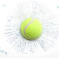 Sticker trang trí xe hơi 3D hiệu ứng kính vỡ - Banh tennis