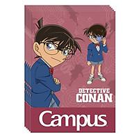 Lốc 5 Cuốn Vở Kẻ Ngang B5 Có Chấm Campus Conan Mystery NB-BCNM200 - ĐL 70 (200 Trang) - Mẫu Ngẫu Nhiên