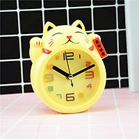 Đồng hồ để bàn hình mèo ( giao màu ngẫu nhiên )