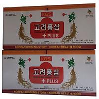 Combo 2 hộp chiết xuất hồng sâm có củ KGS Hàn Quốc
