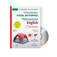 Sách Từ điển hình ảnh Tam Ngữ Trung Anh Việt 16000 từ hơn 3000 hình ảnh màu sắc nét có mp3 nghe qua app– Visual English Vietnamese Chinese Trilingual Dictionary + DVD tài liệu