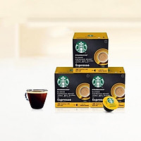 Viên cà phê espresso rang vàng Starbucks (12 viên x 3 hộp)