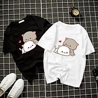 Áo thun Nam Nữ Không cổ Mèo Meo CIMT-0000 mẫu mới cực đẹp, có size bé cho trẻ em / áo thun Anime Manga Unisex Nam Nữ, áo phông thiết kế cổ tròn basic cộc tay thoáng mát