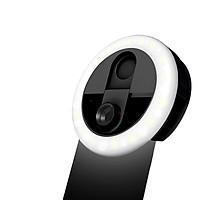 3-in-1 Mini Clip-on Smartphone Fill-in Light & Mobile Phone Camera Lens Kit 3 Levels Brightness LED Light 0.63X Wide