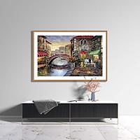 Tranh canvas phong cách sơn dầu - Phong cảnh Venice - PC017