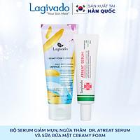 Bộ đôi serum giảm thâm, mờ sẹo mụn Hàn Quốc Lagivado  Dr. ATreat Serum 30 ml và sữa rửa mặt Creamy Foam 50ml