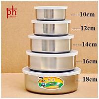 Bộ 5 thố inox Protect fresh box  đựng đồ ăn nhà bếp