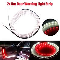 2x Anti-collision Car Door Strip Opened Warning Lamp Signal LED Light SMD LENS