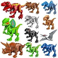 Mô Hình Đồ Chơi Khủng Long miDoctor Dinosauria Nhựa Nguyên Sinh An Toàn Cho Bé (Bộ 12 Khủng Long) - Hàng Chính Hãng