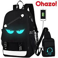Bộ Balo đi học nam nữ Ohazo! kèm túi đeo chéo sành điệu