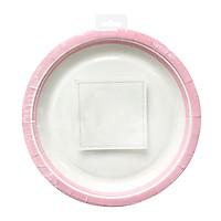 Đĩa giấy dùng tiệc 23cm màu hồng 10 cái/bộ Uncle Bills YT0061