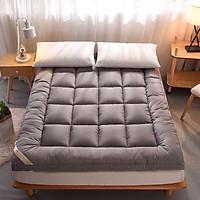TẤM TOPPER TIÊU CHUẨN 5 SAO TOPPER TẤM LÀM MỀM ĐỆM mẫu 01 ghi xám 2 trong 1 trải giường hoặc trải sàn dùng trực tiếp
