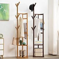 Cây treo quần áo để đồ đa năng gỗ tre Cabi-Shelf