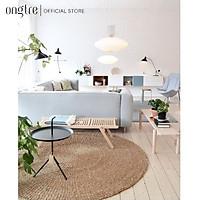 Thảm trải sàn cói/lục bình hình tròn decor,trang trí phòng khách 60/80/100/120/150/180cm  | ongtre (Vietnam).