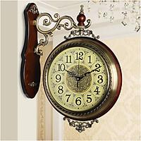 Đồng hồ treo tường 2 mặt phong cách châu Âu DH24