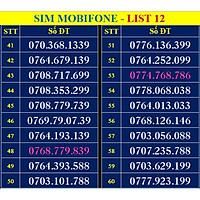 SIM SỐ ĐẸP MOBIFONE - LIST 12 (MBFDS12) - Số dễ nhớ, thần tài, lộc phát, số cặp, phong thủy - ĐĂNG KÝ ĐÚNG CHỦ ONLINE-Hàng chính hãng