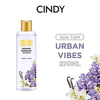Sữa tắm nước hoa dưỡng ẩm sáng da Cindy Bloom Urban Vibes mùi hương tự tin cuốn hút 270g
