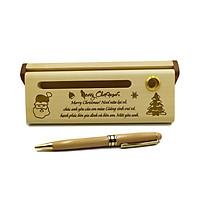 Bút gỗ bi xoay làm quà tặng Noel, Năm mới (Kèm hộp đựng sang trọng)