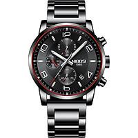 Đồng hồ nam Nibosi 2328 dây thép đúc đặc chạy 6 kim JS-2328