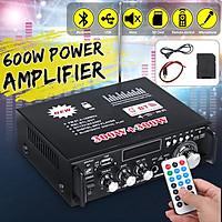 600W DC 12V/ AC 220V HiFi Stereo Audio Power Amplifier Mini Digital Bluetooth