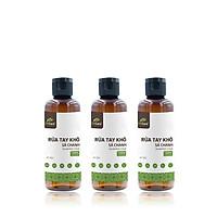 Bộ 3 Gel rửa tay khô tinh dầu Sả Chanh 24Care 100ML – kết hợp tinh dầu tràm trà, diệt khuẩn 99,9%