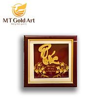 Tranh chữ Phúc dát vàng (20x20cm) MT Gold Art- Hàng chính hãng, trang trí nhà cửa, phòng làm việc, quà tặng sếp, đối tác, khách hàng, tân gia, khai trương