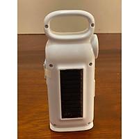 Đèn pin sạc xách tay 3 in 1 (đèn pin, đèn dự phòng cúp điện, đèn nháy 7 màu), có thể sạc bằng điện hoặc sạc bằng năng lượng mặt trời
