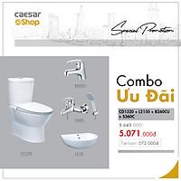 Combo sản phẩm bàn cầu+lavabo+vòi lavabo+sen tắm - CD1320+L2150+B260CU+S360C