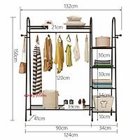Giá treo quần áo mẫu chữ A DOIUBLE HANGER sang trọng siêu đẹp VANDO giá phơi 1 thanh treo 5 tầng để đồ tiện lợi cho phòng ngủ, phòng khách, shop