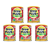 Bộ 5 Lon Sữa GrowPLUS+ Đỏ Cho Trẻ Suy Dinh Dưỡng Trên 1 Tuổi - 1.5kg