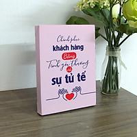 Tranh in để bàn canvas tạo động lực Cocopic OFVDB076 Chinh phục khách hàng bằng tình yêu thương