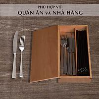 Hộp đựng đũa muỗng có nắp bằng gỗ, hộp đựng đũa thìa có nắp đậy cho nhà hàng quán ăn hay gia đình Nhatvywood NV5310