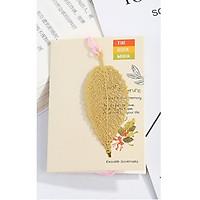 Bookmark kim loại hình chiếc lá mạ đồng