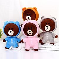 Gấu Bông BROWN mặc áo ( giao màu ngẫu nhiên)
